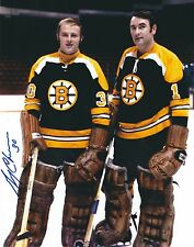 Autographed 8x10 GERRY CHEEVERS  Boston Bruins photo with Show Ticket