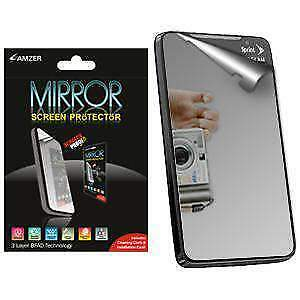 AMZER Scratch Free Mirror Screen Protector with Cleaning Cloth for HTC EVO 4G