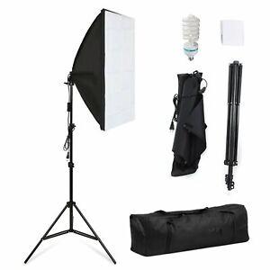 Profi Fotostudio Studioleuchte Foto Studioset Softbox Teleskop Studio mit Tasche
