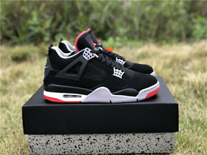 Jordan 4 Bred Sneakers for Men for sale