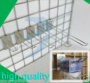 """Grid Wall Mesh Euro Hook Arm 4"""" 6"""" 8"""" 10"""" 12"""" Shop Dispaly Clothes Hanger"""