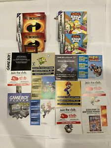 Gameboy Advance SP Mixed Lot- Manuals,Inserts,Instructions,Boxes & Game.