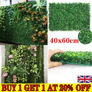 Plant Artificial Mat Greenery Wall Hedge Grass Fence Foliage Panel Decor UK