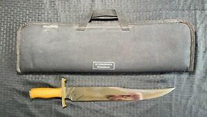 Custom Handmade Stainless Steel Al Longworth Knife Lot#SP23 Wood Handle