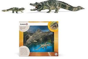 NEW SCHLEICH 41408 Alligator Set - Wild Life