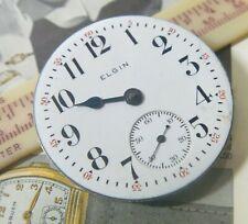 1915 Elgin Nat'l Watch Co 16 Size Open Face 15J PW Movt Dial 2 Hands 4 PARTS!!