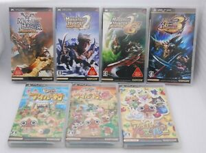 PSP Monster Hunter Portable 1 2nd 2nd G 3rd Airou Village G & Puzzle 7pcs Japan