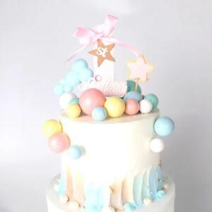 20X Balls Cake Toppers Birthday Wedding Party Cupcake Dessert Decoration