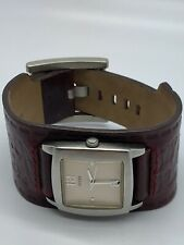 Guess Ladies Quartz Watch With Red Leather Strap