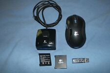 Logitech G7 Wireless Laser Gaming Mouse M-RBH113 w/ Charge Base & Dongle