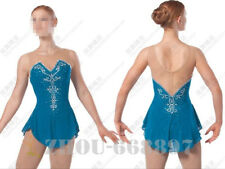 competition ice figure skating dress child and women ice skating dress blue
