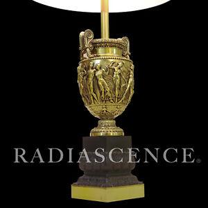 XL NEO CLASSIC MODERN BRASS ROMAN NUDE ORGY HOLLYWOOD REGENCY LAMP Chapman 1960S