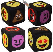 Nanco Plush - Emoticon Dice - EMOJI ASSORTMENT (4 Piece Lot) (3 inch) - New