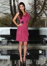 DaVinci 60134 Size 12 Fuchsia Pink Black Bridesmaid Dress NWT $189 Short Cute