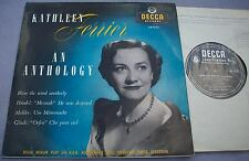 "KATHLEEN FERRIER Anthology UK DECCA MONO 10"" LW 5225 Vocal Opera"