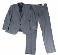 Peter Millar Mens Suit Set Blue Size 48 Windowpane 2 Piece Wool $845 #278