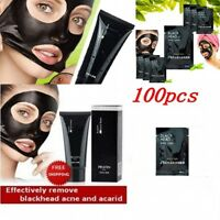 10-100x Blackhead Remover Black Mineral Mud Nose Acne Pore Cleansing Mask Strips