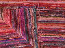 5X7' Feet Indian Handmade Cotton Rag Dari Throw Multi Patchwork Vintage Chindi