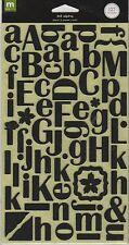 SCRAPBOOK ALPHA STICKERS   FELT / BLACK  BY MAKING MEMORIES