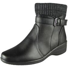 Ladies Ankle Warm Winter Strap Zip Wedge Boots Sneakers Comfy Shoes Size