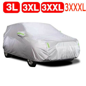 3L-3XXXL Car Cover Protector Scratch Dust Sun Waterproof Resistant For All Sedan