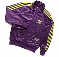 Adidas Originals Chile 62 Wet-Look Track Top/Jacket   Large   Violet