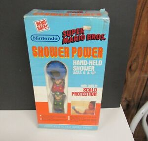 1989 Nintendo Super Mario Bros. Hand Held Shower Power Sealed
