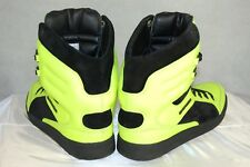 EMPORIO ARMANI 'RUNWAY' NEON GREEN  HIGH TOP MEN SNEAKERS  EU 43.5 US 10.5
