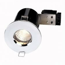 Chrome Fire Rated Bathroom / Shower Ceiling Down Light IP65 GU10 FLF19 X 1