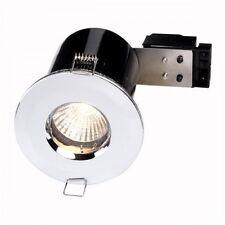 Chrome Fire Rated Bathroom / Shower Ceiling Down Light IP65 GU10 FLF19 X 1