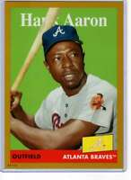 Hank Aaron 2019 Topps Archives 5x7 Gold #78 /10 Braves