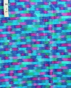 Multi Colored 'Folkorico' Stirped Print Cotton Quilt Fabric,Crafts,Hoffman Intl