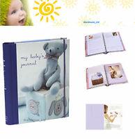 My Baby's Tagebuch Blau Andenken Buch, Harter Rücken mit Teiler Baby Geschenk