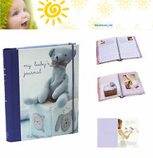 My Baby's Journal Blue Keepsake Book, Hard Back with Dividers Baby Gift