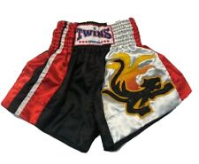TWINS SPECIAL Muay Thai Boxing Shorts Kickboxing Trunk Fighting Pants Red Sz. S