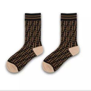 FF Designer Inspired Logo Socks Black