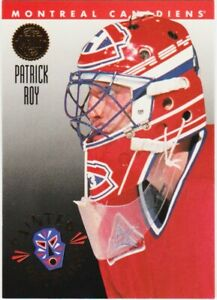 PATRICK ROY 94-95 LEAF HOCKEY PAINTED WARRIORS CARD # 4 of 10 MONTREAL 1994-95