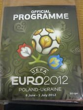 CAMPIONATO Europeo 2012 2012: torneo ufficiale BROCHURE/PROGRAMMA, 8th Jun