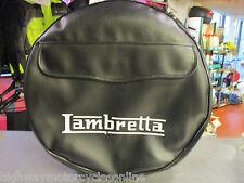 """LAMBRETTA S3 Li TV SX GP ALL MODELS 10"""" SPARE WHEEL COVER BLACK WITH POCKET"""