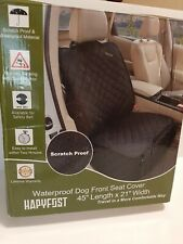 New listing Hapyfost Seat Cover Car Pet Dog Travel Waterproof Bench Protector -Grey
