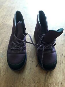 Ladies Size 7 Cloudsteppers Boots By Clarks - Purple bn