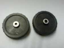 2 X LAWNMOWER WHEEL WITH BEARINGS 150 MM WITH HUBCAP LA 61007336/0 12 MM CENTRE