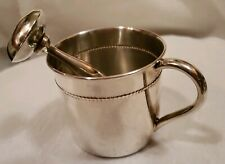 Reed & Barton Sterling Silver 6-Ounce Beaded Child Cup & Baby Rattle Vntg