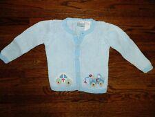 Boy's Blue Cardigan Sweater w/Cars Size 6-9 Months
