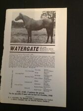H8-1 Ephemera Advert 1967 The Burgage Stud Horse Watergate T C Vigors