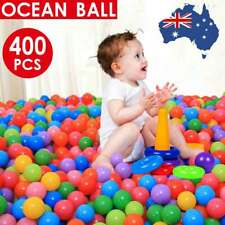 400pc Ball Pit Balls Play Kids Plastic Baby Ocean Soft Toy Colourful Playpen AU