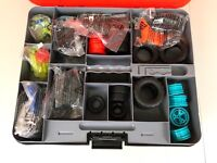 Erector Extreme Deluxe Combo Set 300+ Parts With Case Engineering