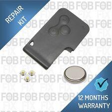 Renault Megane Remote Locking Fob Key Card Shell Case 3 Button Repair Kit