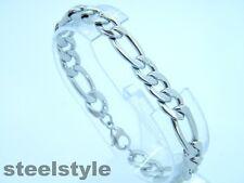 Men's bracelet stanless steel 316L twisted style silver tone