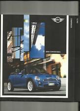 MINI ONE CONVERTIBLE,COOPER AND COOPER S CONVERTIBLE SALES BROCHURE 2007